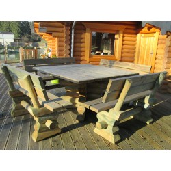 "Table ""Rubique"" + 4 bancs"